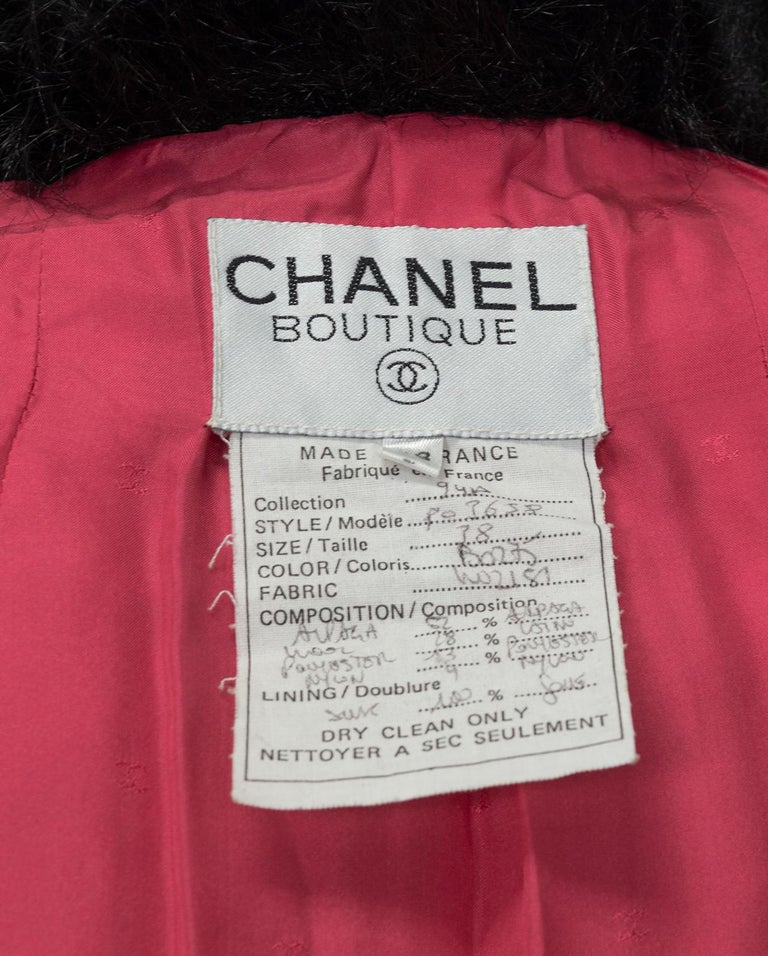 Chanel Faux Fur Runway Suit as Worn by Helena Christiansen, 1994 For Sale 10