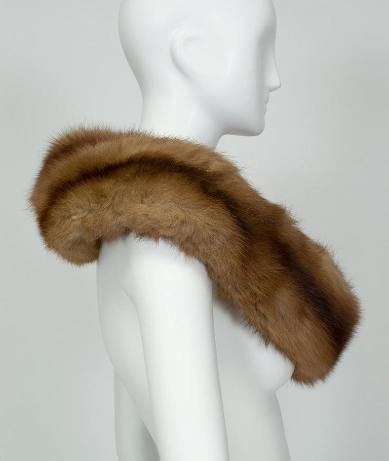 Gray Braided Cognac Ombré Fox Shoulder Cowl, 1950s For Sale