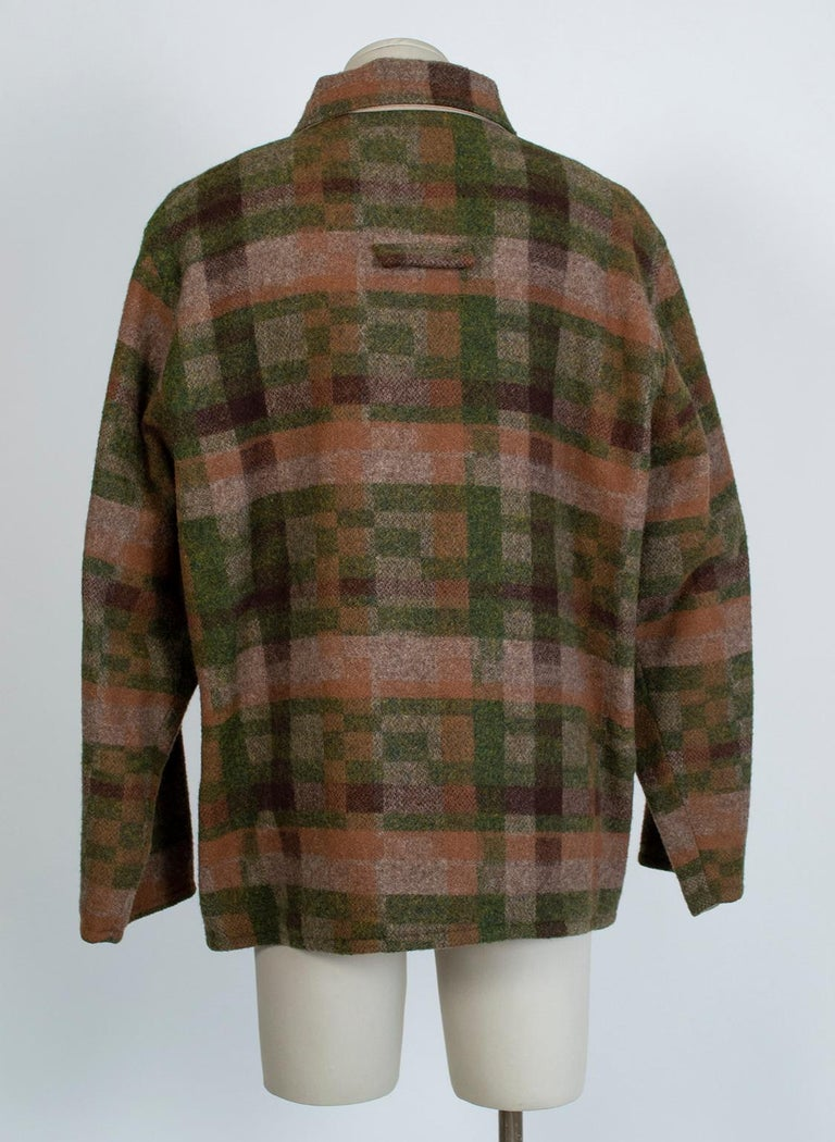 Men's LL Bean Reversible Plaid Field Jacket, 1980s For Sale 2