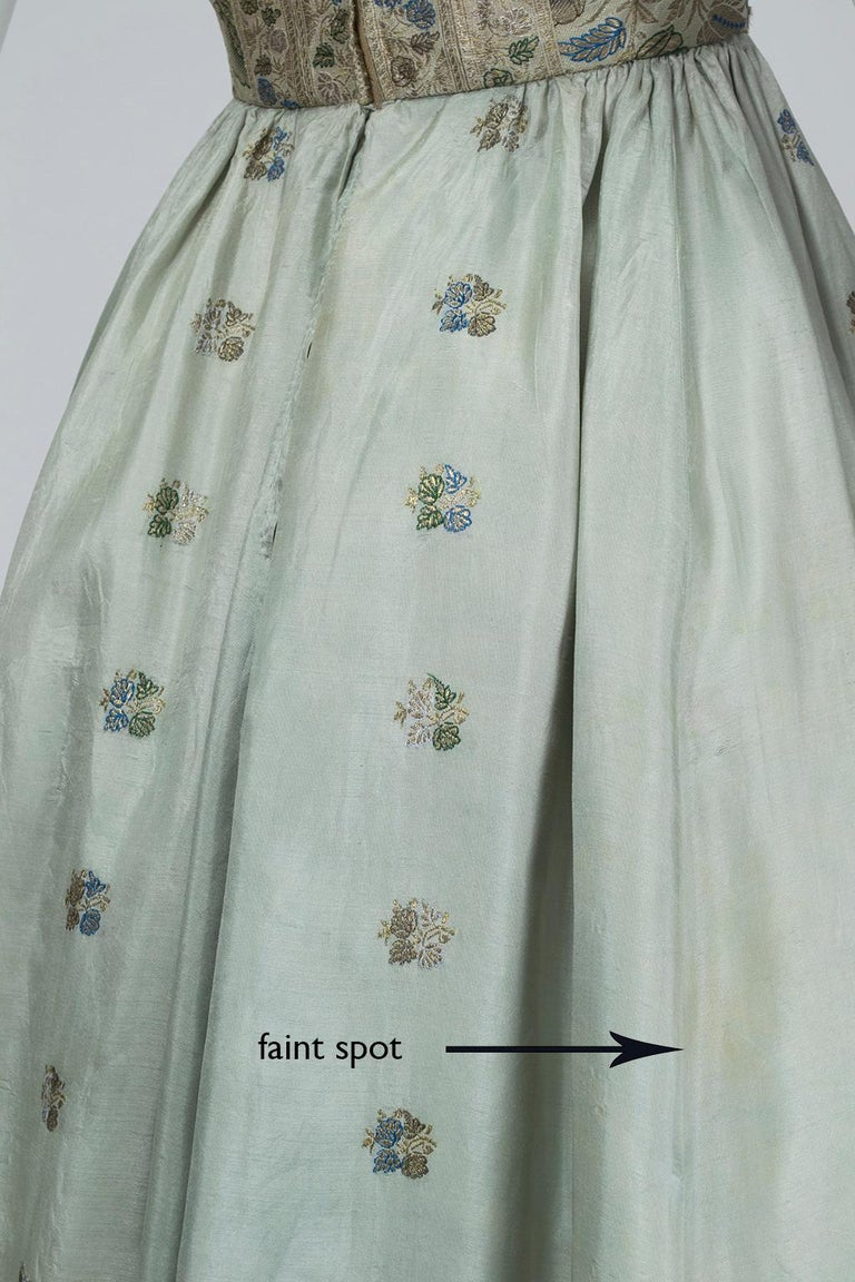 Jacques Cassia Haute Couture Strapless Brocade Party Dress, 1950s For Sale 5
