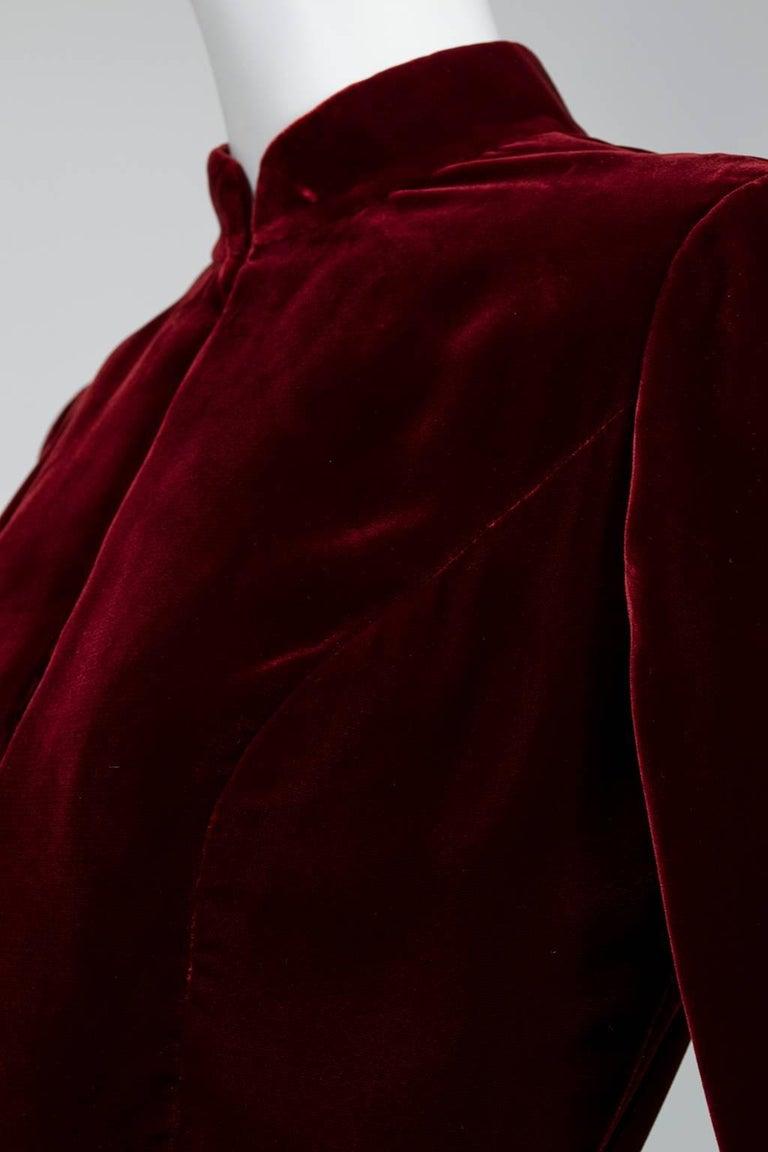 Ceil Chapman Velvet and Quilted Brocade Shirtwaist Dress, 1960s For Sale 3