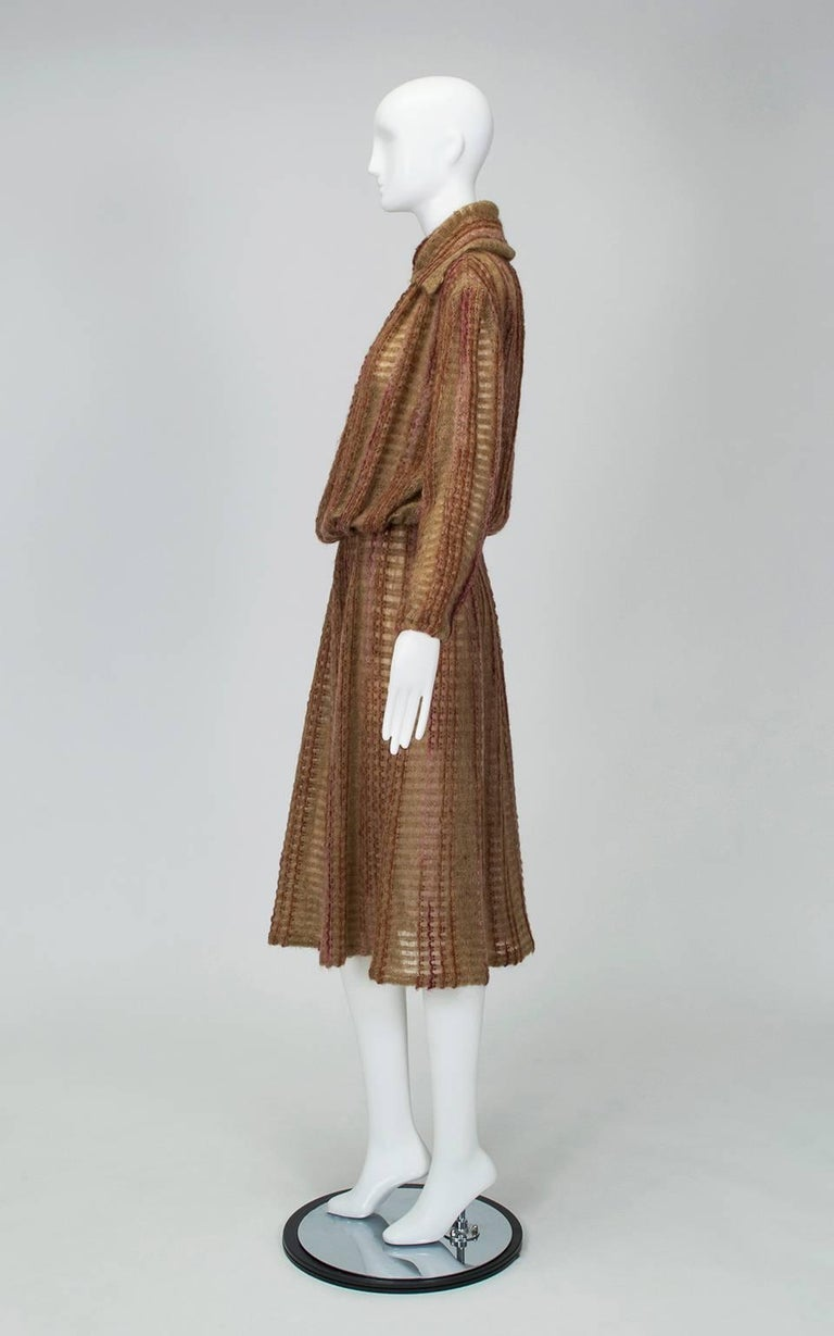 A member of the Royal Society of Arts, fiber artist Kay Cosserat was one of the most prominent and decorated knitwear designers of the 20th century. Her untimely death left few pieces in circulation, and most are currently housed in the Victoria &