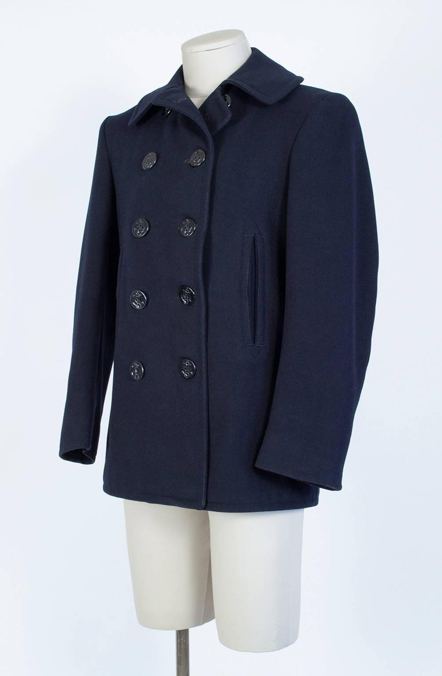 061f0089184 WWII US Navy Military-Issue Kersey Wool Pea Coat
