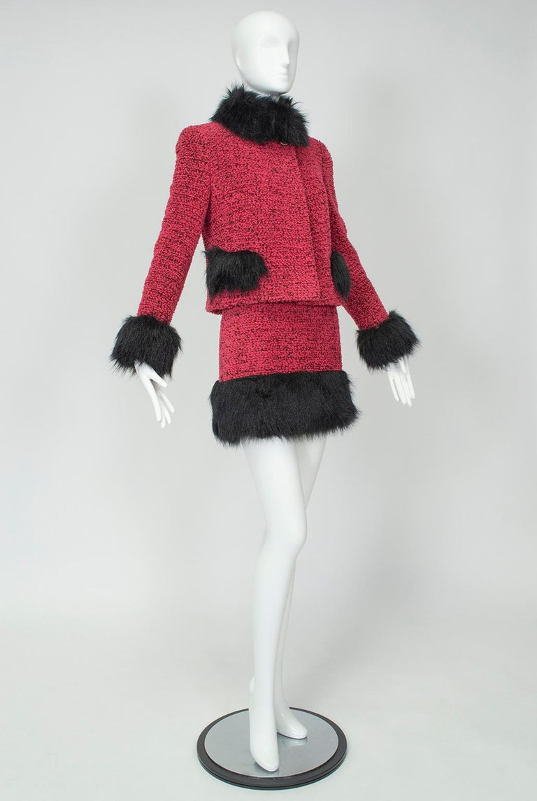Vintage Clothing Do You Think Its Coming Back: Chanel Faux Fur Runway Suit As Worn By Helena Christiansen