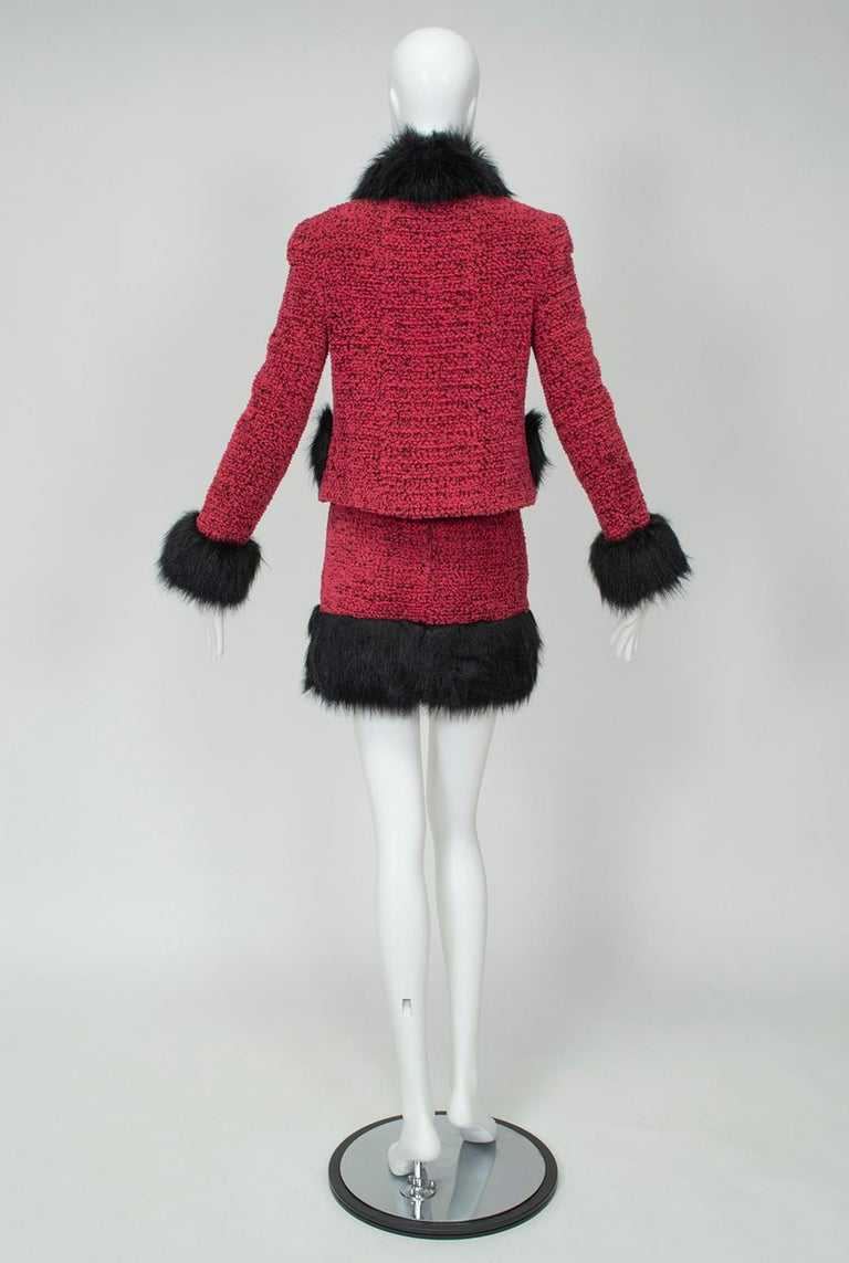 Chanel Faux Fur Runway Suit as Worn by Helena Christiansen, 1994 In Excellent Condition For Sale In Tucson, AZ