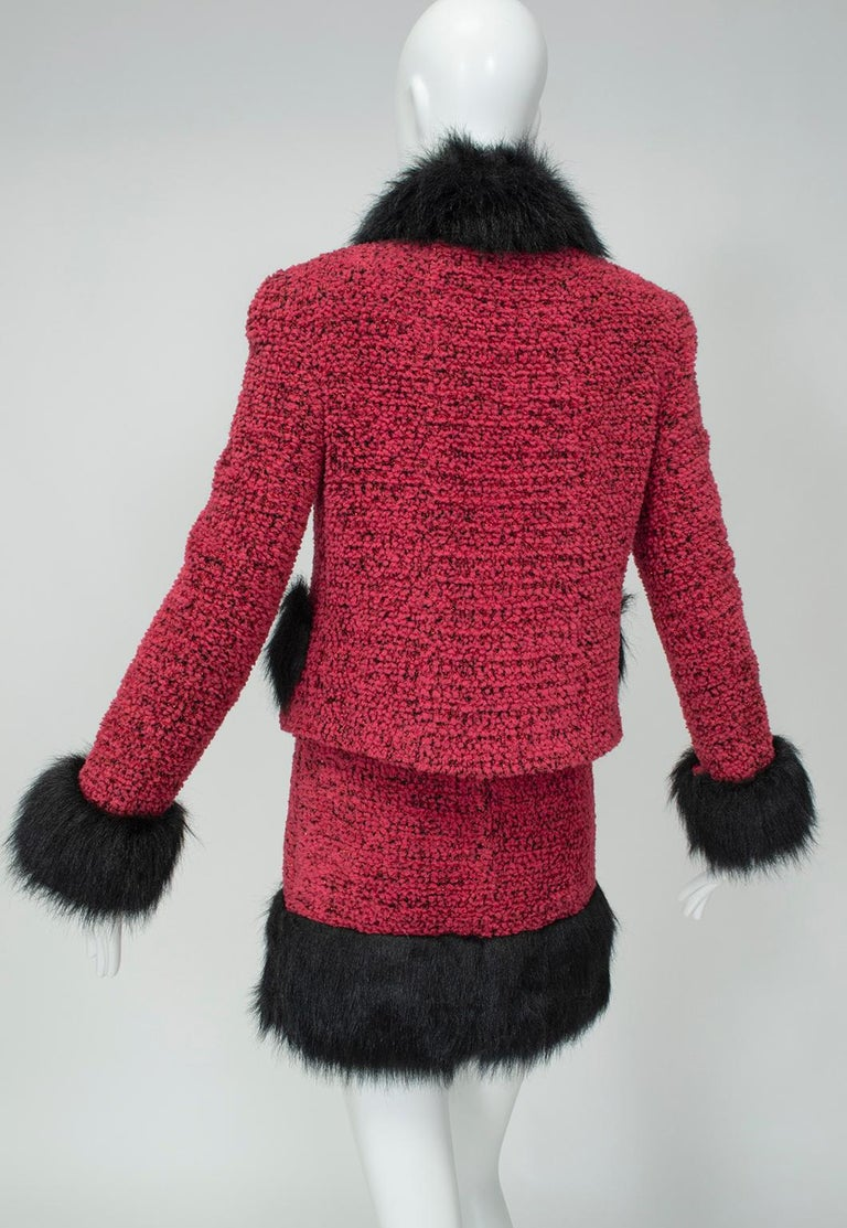 Chanel Faux Fur Runway Suit as Worn by Helena Christiansen, 1994 For Sale 1