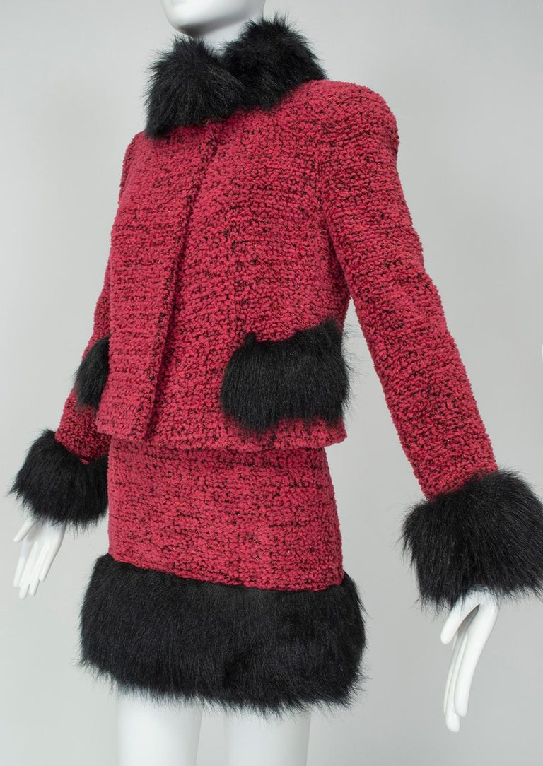 Women's Chanel Faux Fur Runway Suit as Worn by Helena Christiansen, 1994 For Sale
