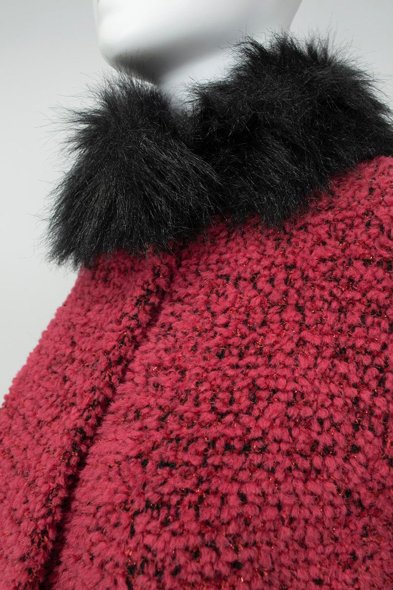 Chanel Faux Fur Runway Suit as Worn by Helena Christiansen, 1994 For Sale 4