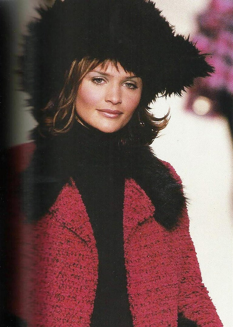Chanel Faux Fur Runway Suit as Worn by Helena Christiansen, 1994 For Sale 12