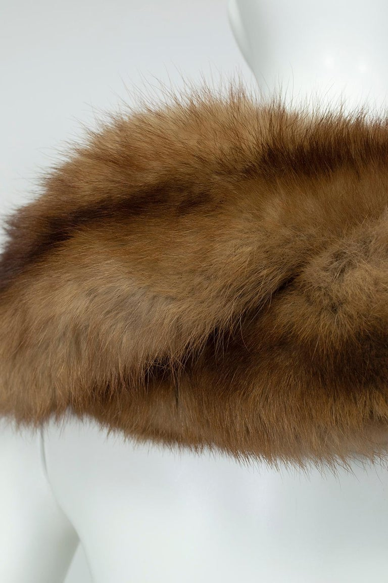 Braided Cognac Ombré Fox Shoulder Cowl, 1950s For Sale 1