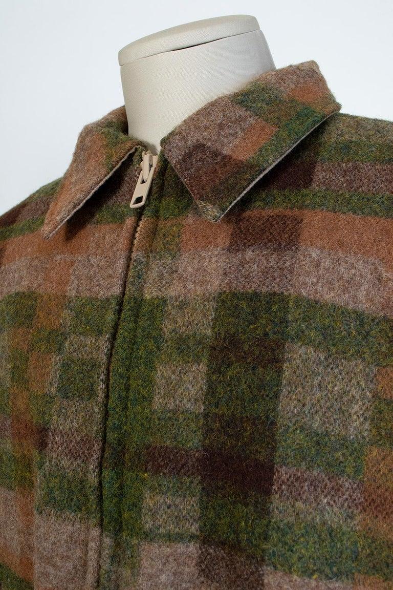 Men's LL Bean Reversible Plaid Field Jacket, 1980s For Sale 5