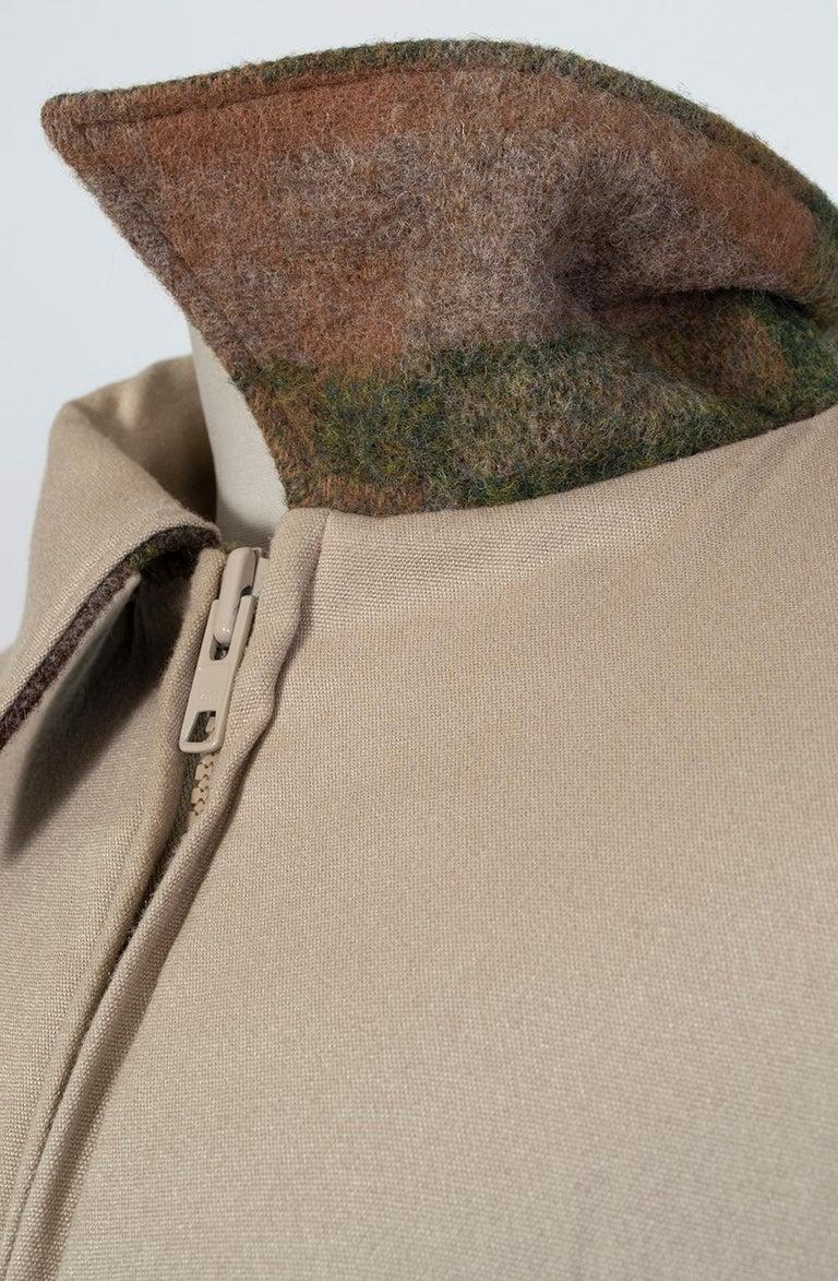 Men's LL Bean Reversible Plaid Field Jacket, 1980s For Sale 7