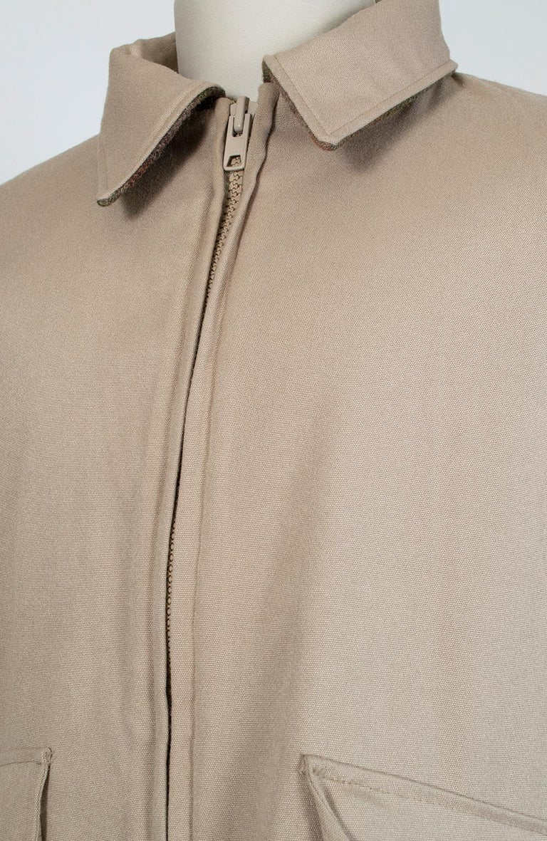 Men's LL Bean Reversible Plaid Field Jacket, 1980s For Sale 6