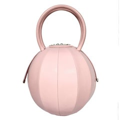 NitaSuri Pilo Pink Leather Sphere Handbag