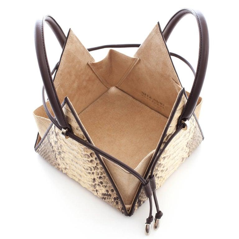 NitaSuri Lia Python Pyramid Handbag 2