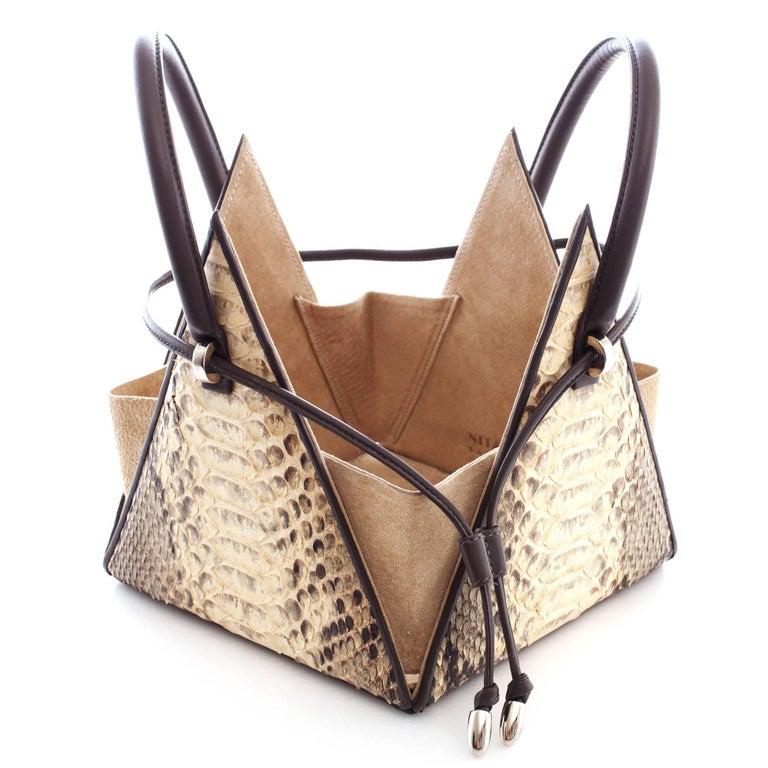 NitaSuri Lia Python Pyramid Handbag 4