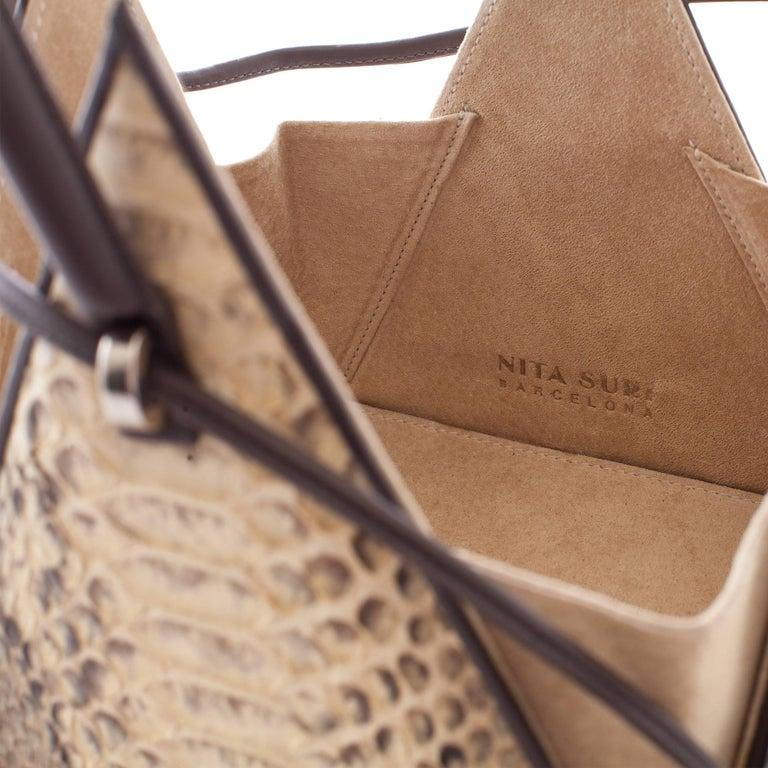 NitaSuri Lia Python Pyramid Handbag 3