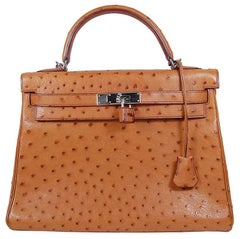 Hermes 32cm Ostrich Kelly Bag