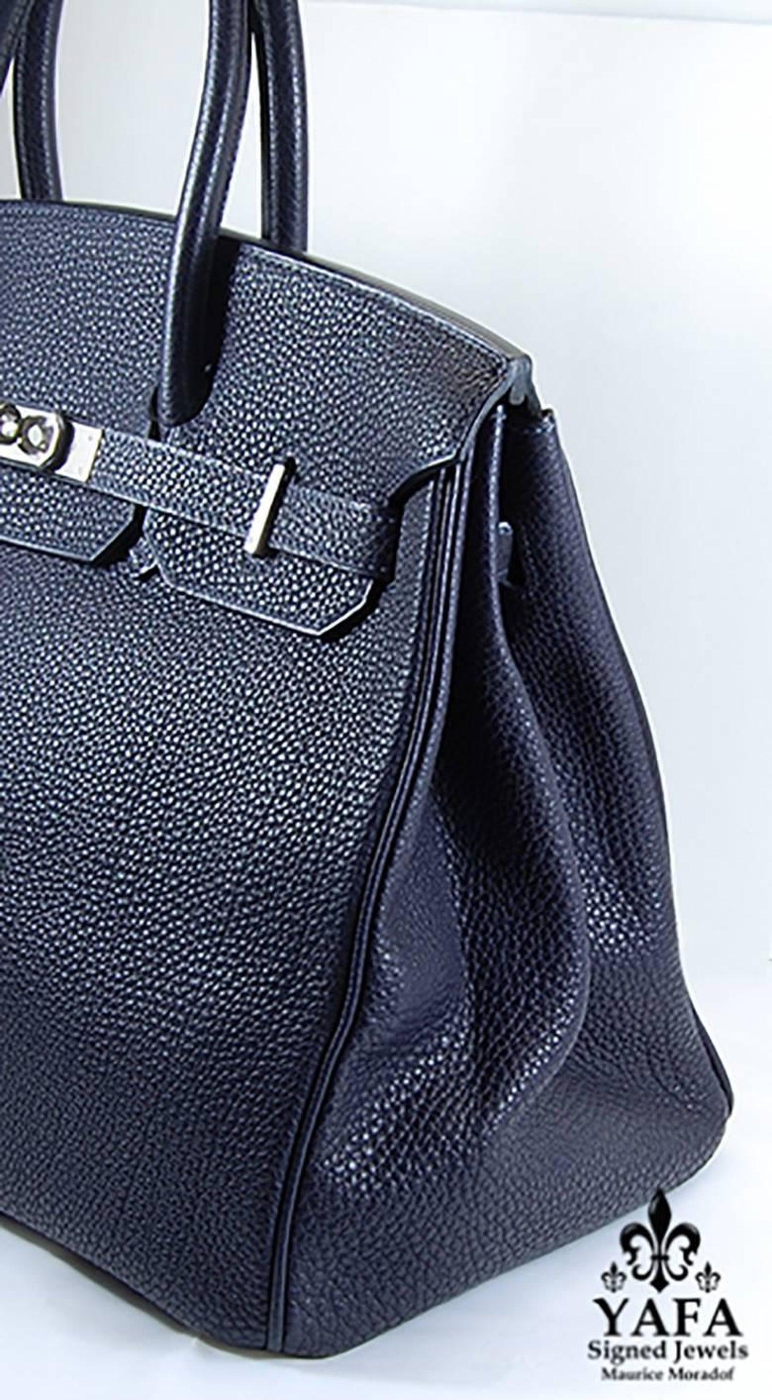 78697e04bc4 HERMES 35cm Navy Blue Birkin Bag at 1stdibs