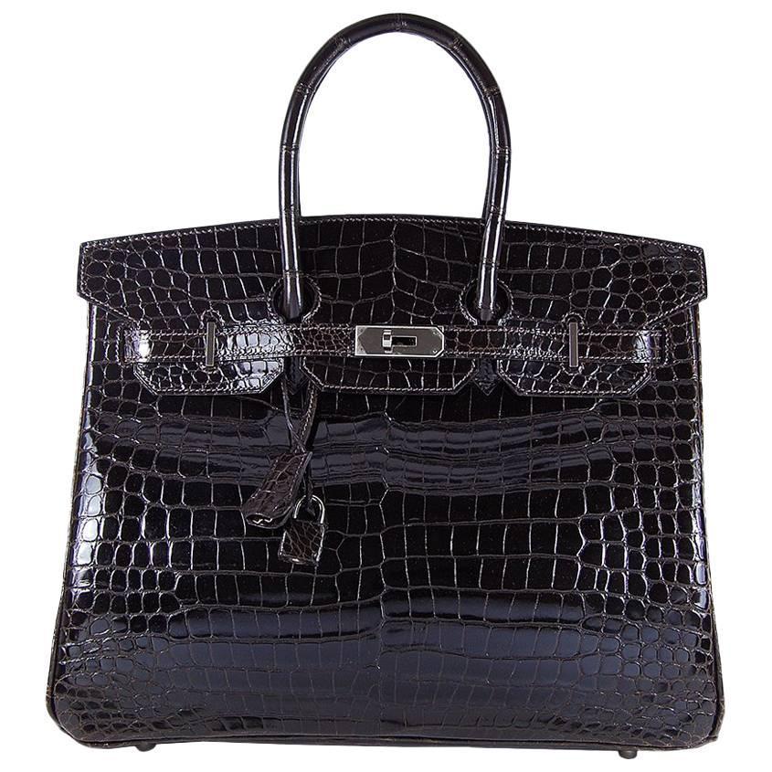 1a7dc1fd5f3 HERMES 35cm Dark Blue Birkin Bag For Sale at 1stdibs