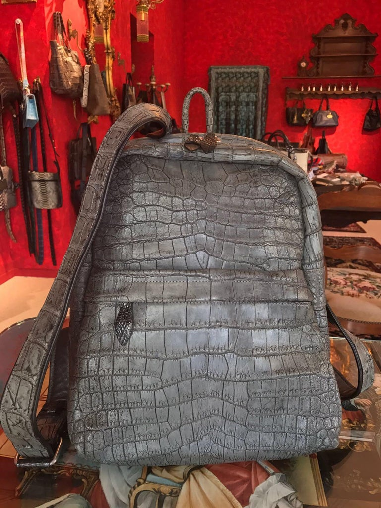 Ana Switzerland Python Backpack  For Sale 3