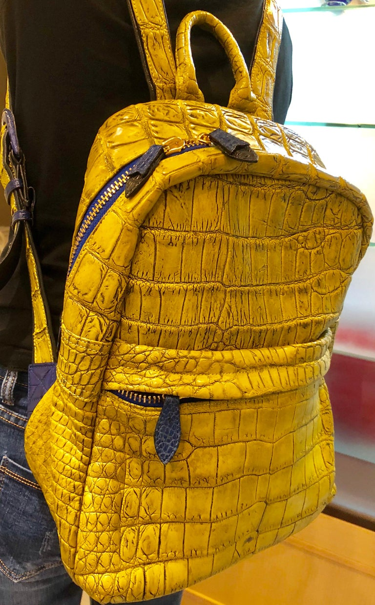 Ana Switzerland Python Backpack  For Sale 4