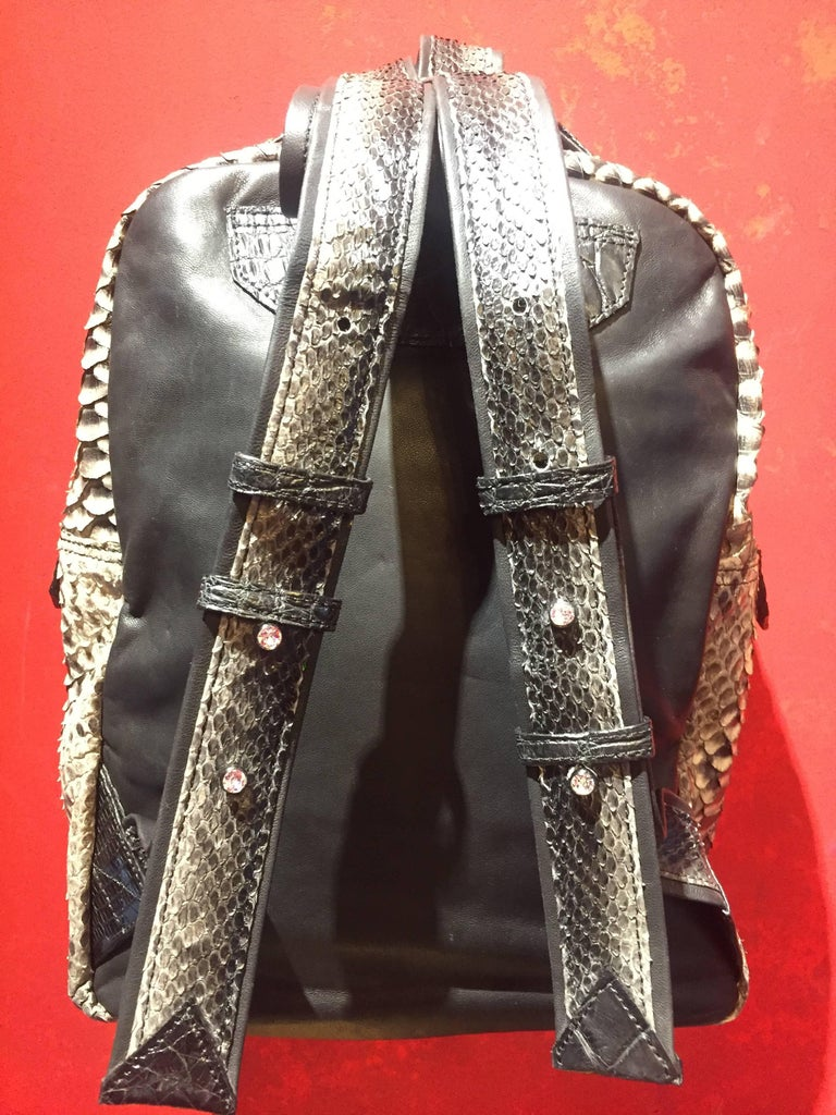 Ana Switzerland Python Backpack  For Sale 2