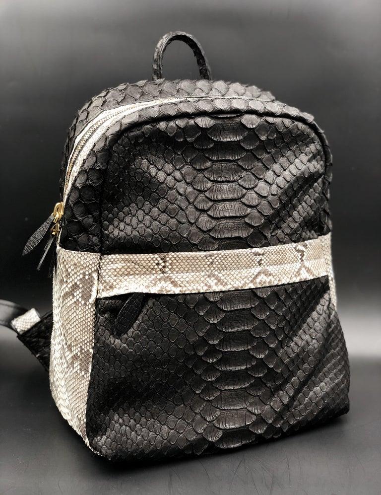 Women's or Men's Ana Switzerland Python Backpack  For Sale