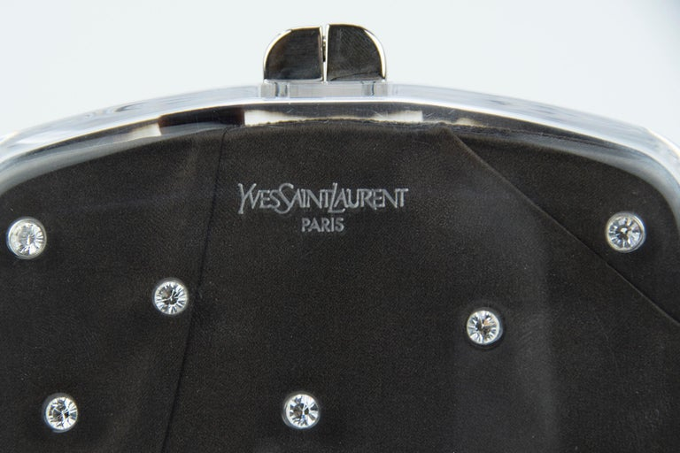 Black Tom Ford for Yves Saint Laurent Lucite Minaudière Evening Bag  For Sale