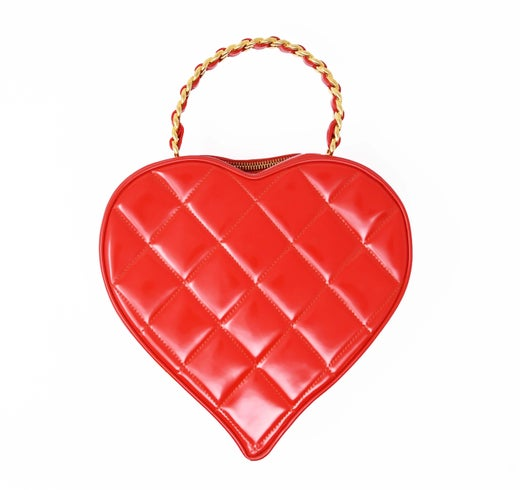 60577d92b622 Vintage Chanel Bright Red Heart Shaped Quilted Bag For Sale at 1stdibs