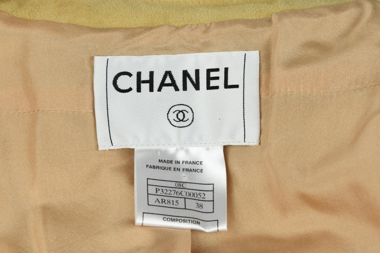 Women's Chanel Tan Suede Top - Size FR 38 For Sale