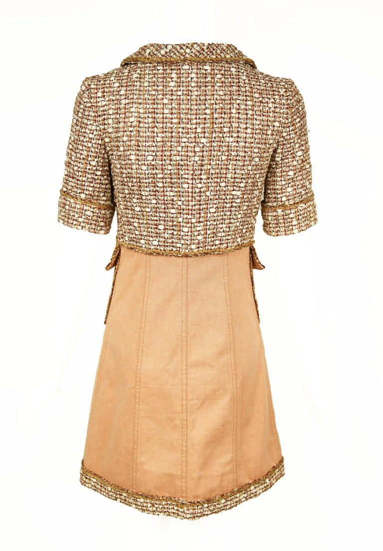Chanel Tweed & Twill A-Line Dress - Size FR 34 In Excellent Condition For Sale In Newport, RI