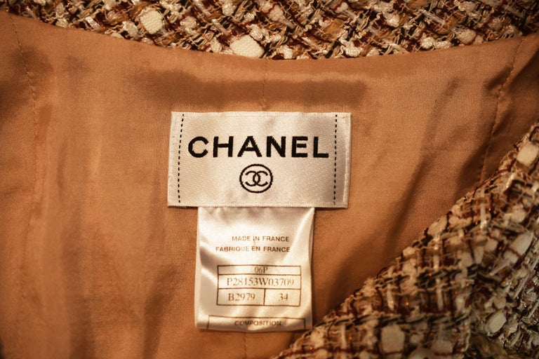 Chanel Tweed & Twill A-Line Dress - Size FR 34 For Sale 2