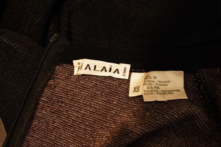 Vintage Alaia Bow Print Dress - Size XS For Sale 1