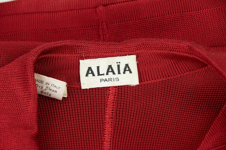 Vintage Alaia Red Dress For Sale 2