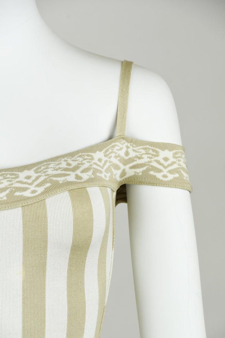 Vintage Alaia Striped Mini Dress - Size XS In Excellent Condition For Sale In Newport, RI