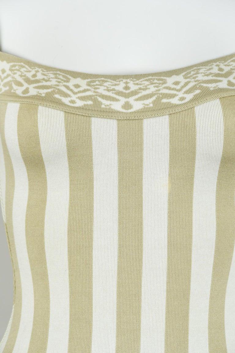 Women's Vintage Alaia Striped Mini Dress - Size XS For Sale