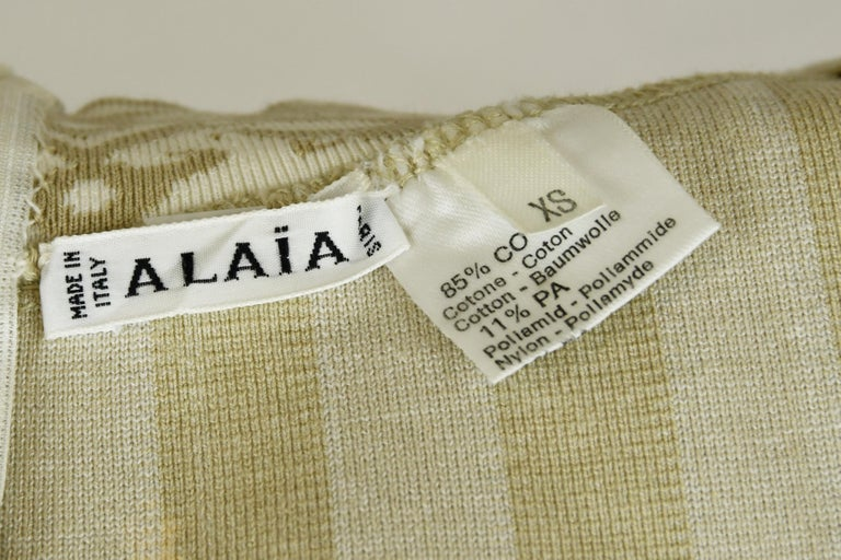 Vintage Alaia Striped Mini Dress - Size XS For Sale 1