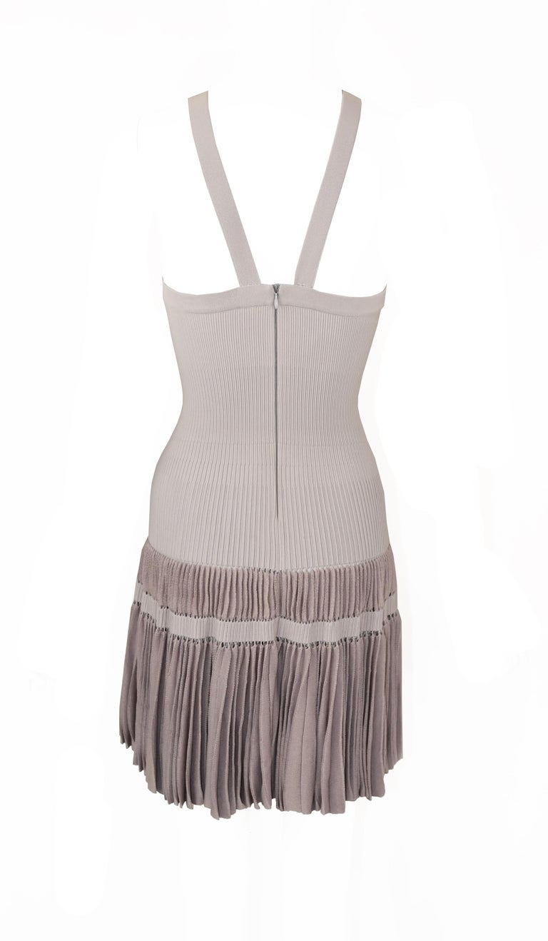 Alaia Lilac/Gray Sleeveless Dress - Size FR 40 In Excellent Condition For Sale In Newport, RI