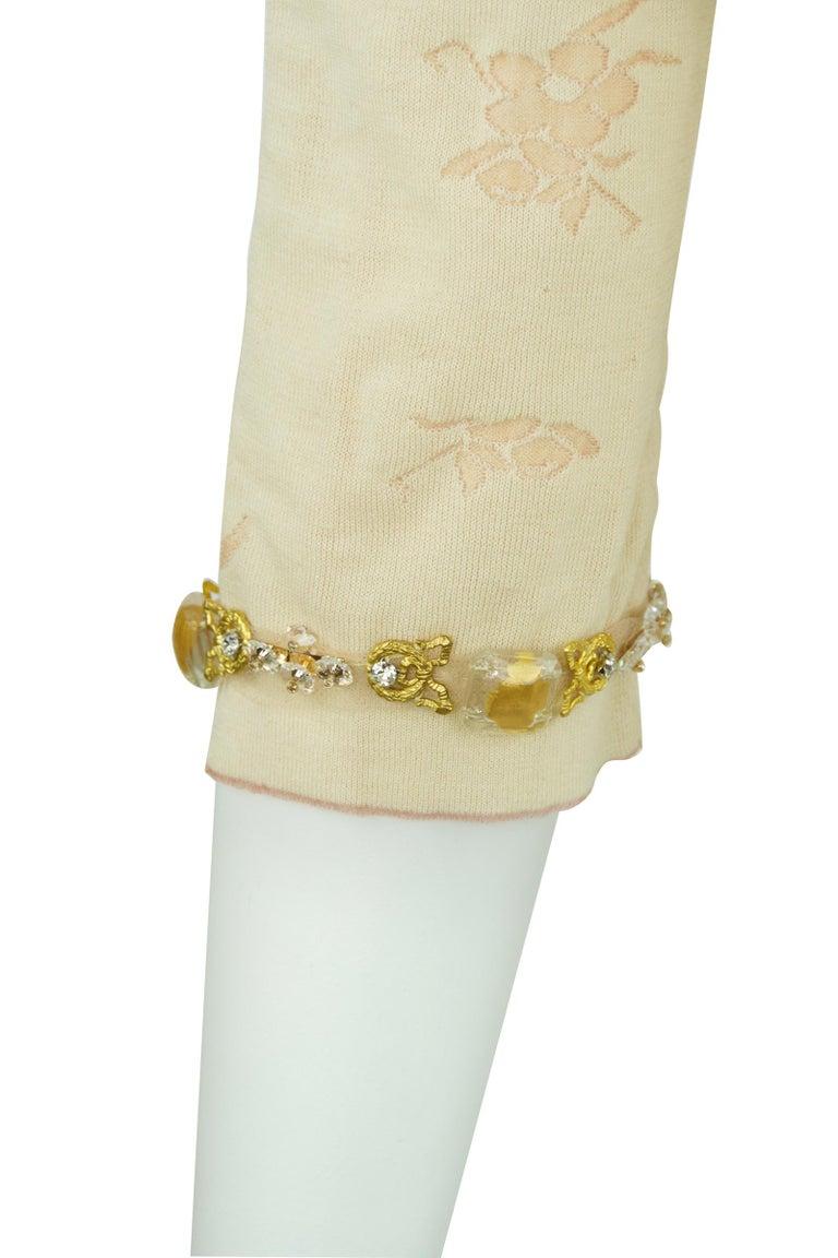 Vintage Chanel Peach & Gold Cardigan - FR 38 For Sale 1