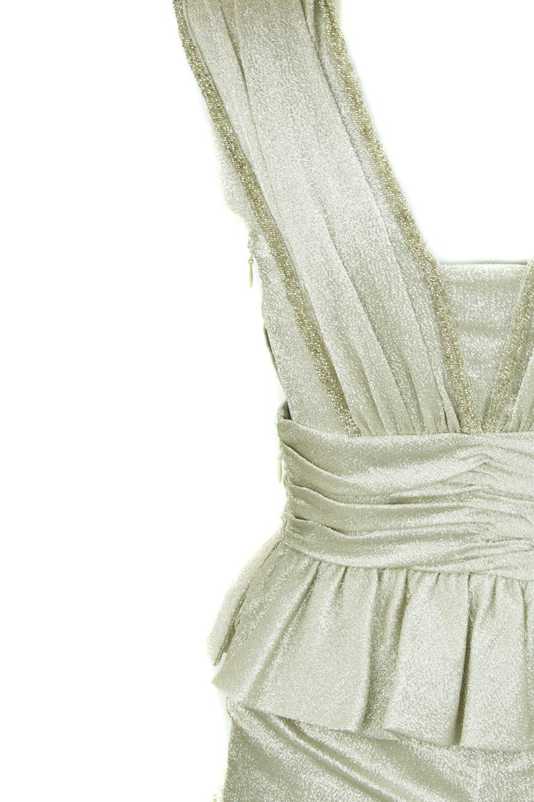 Women's Viktor & Rolf Silver Sleeveless Gown  For Sale