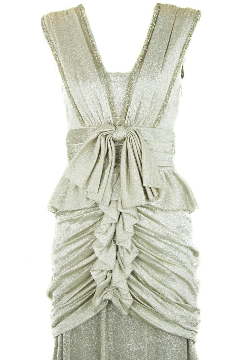 Viktor & Rolf Silver Sleeveless Gown  For Sale 2