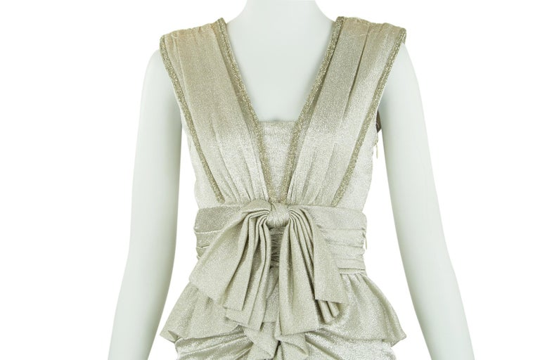Viktor & Rolf Silver Sleeveless Gown  For Sale 3