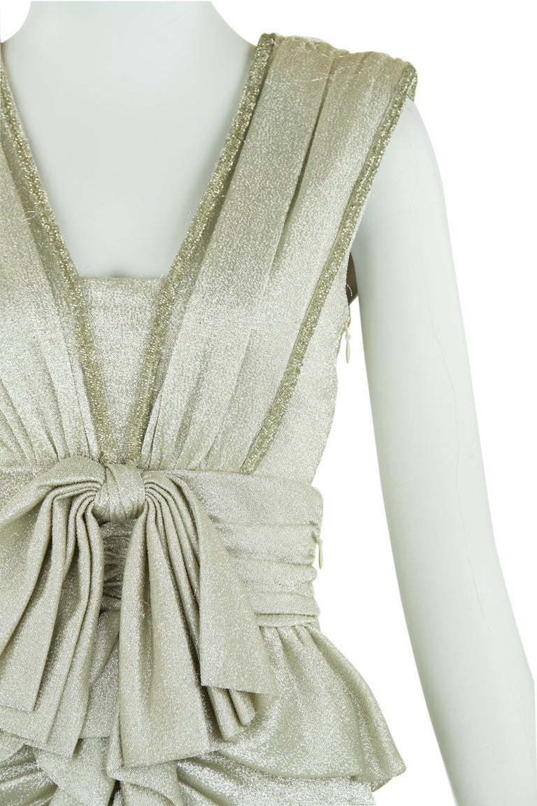 Viktor & Rolf Silver Sleeveless Gown  For Sale 4