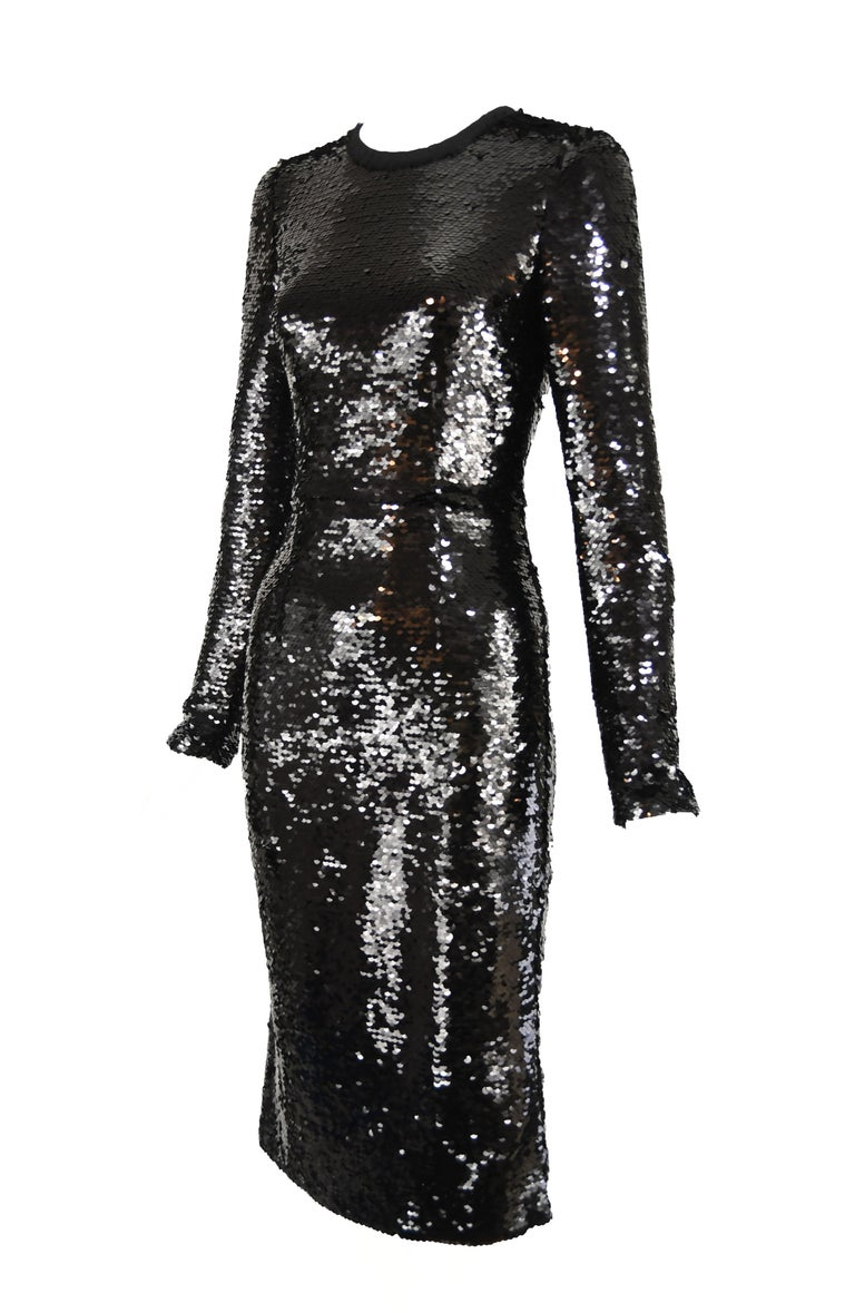 6c3d1911a67 Chic and glamorous black sequin Dolce   Gabbana sheath dress from the FW  2011 RTW Collection