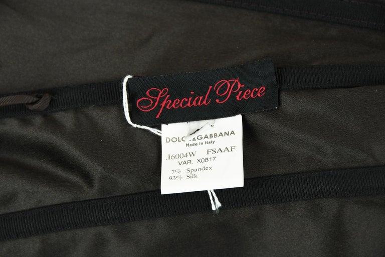 Dolce & Gabbana Giraffe Print Silk Lace Up Dress - Size IT 40 For Sale 2