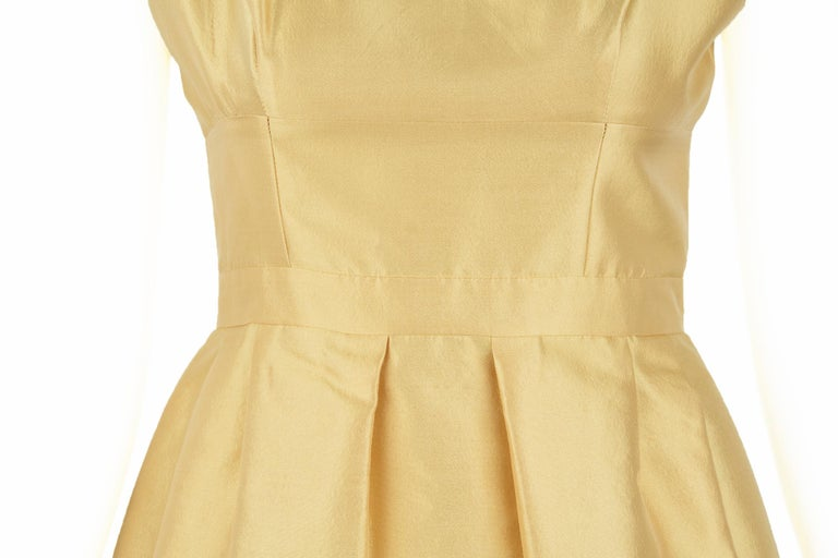 33f6d309c7d Prada Yellow Silk and Wool Sleeveless Dress - Size IT 42 For Sale at ...