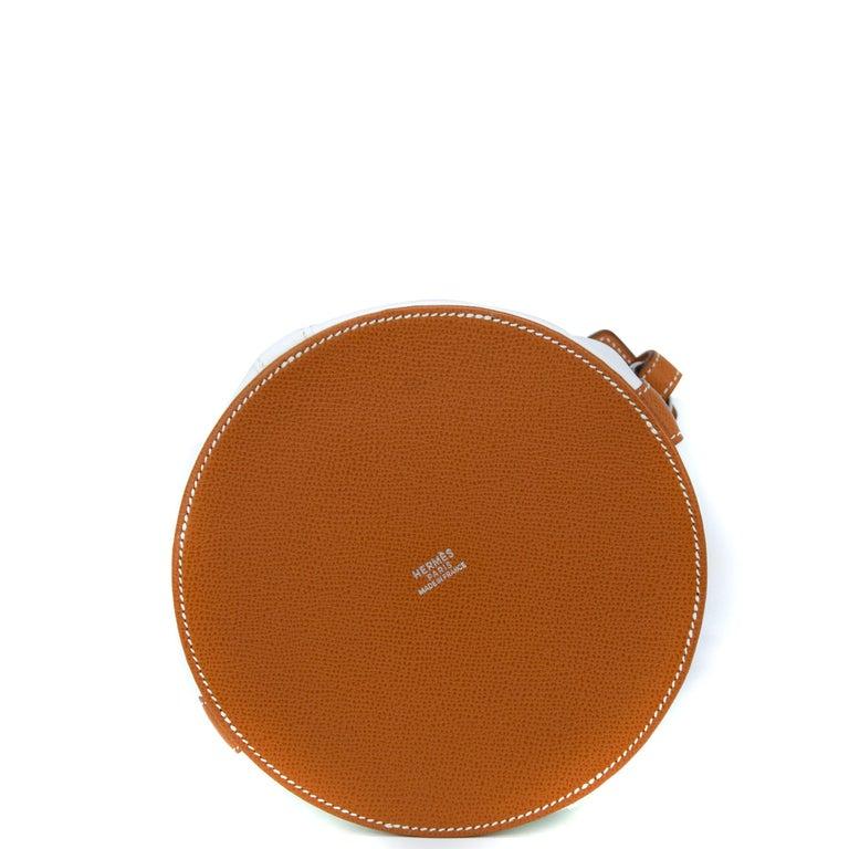 Hermes White Epsom and Barenia Farming Bag For Sale 1
