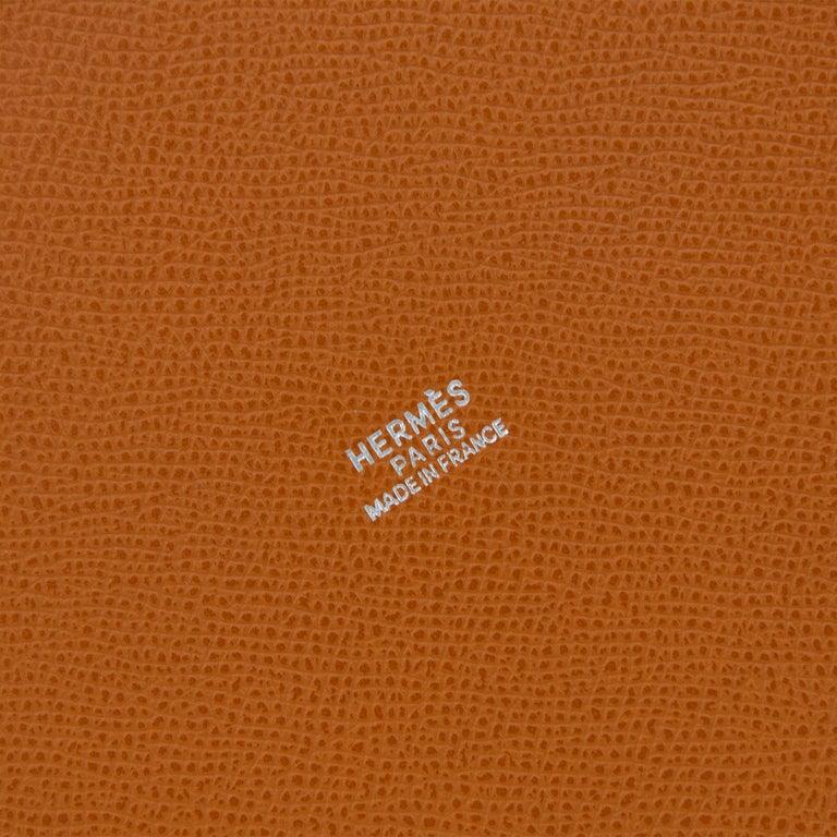 Hermes White Epsom and Barenia Farming Bag For Sale 2