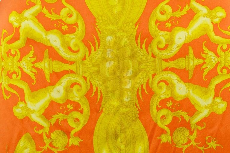 Versace Pink Orange Gold Silk Halter Dress  For Sale 1